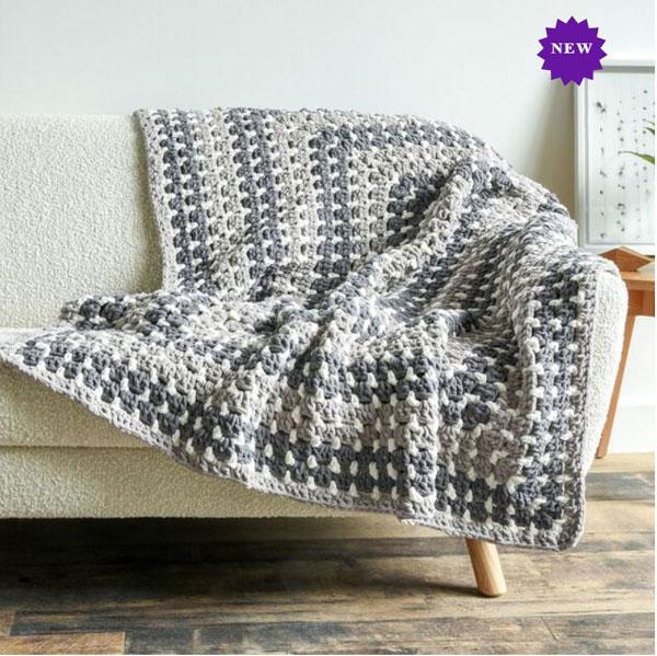 Bernat Rectangle Granny Crochet Blanket