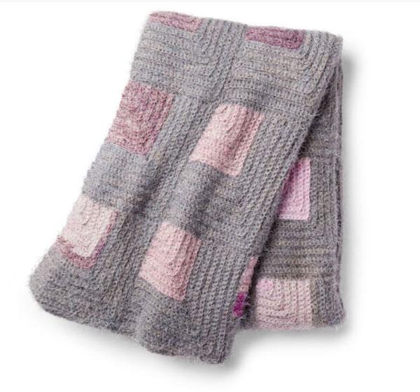 Caron Square Up Crochet Blanket