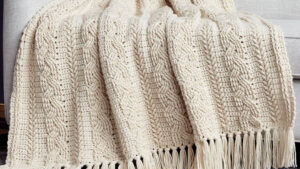 Crochet Cabled Blanket Pattern