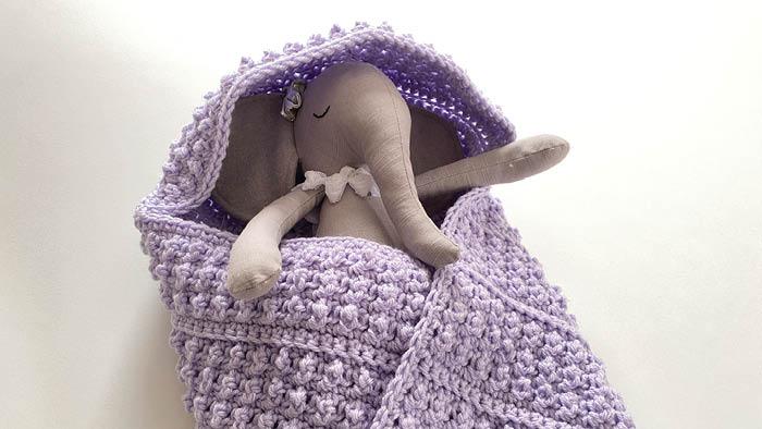Crochet Corner Hood Baby of Mine Blanket