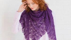 Crochet Lacy Pineapple Shawl