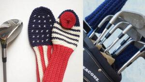 Crochet Paris Meets California Golf Club Covers