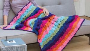 Crochet Rainbow View Blanket