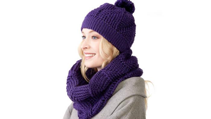 Crochet Twist N Shout Hat and Cowl