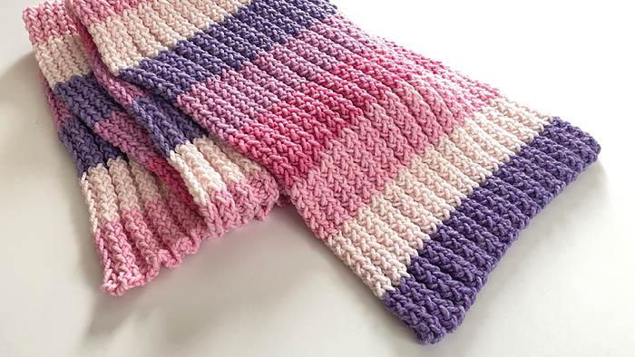 Loom Knit Double Rib Stretchy Wrap
