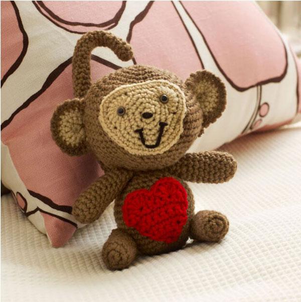 Red Heart Love Monkey
