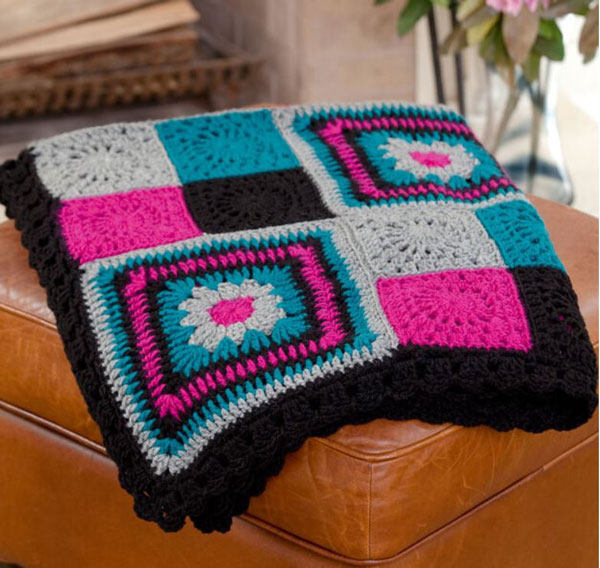 Red Heart Time to Relax Granny Throw