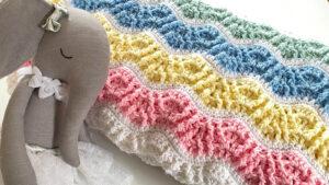 Crochet Butterfly Kisses Baby Blanket