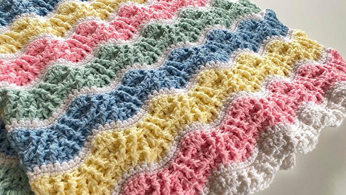 Crochet Butterfly Kisses Baby Blanket | The Crochet Crowd