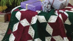 Crochet Christmas Motif Star Blanket