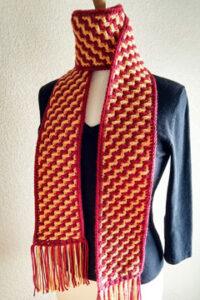 Crochet Flight of Stairs Scarf by Susan Lowman