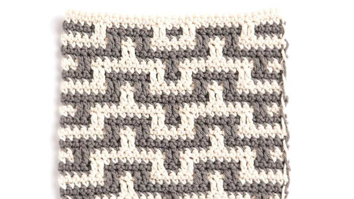 Crochet Mosaic Stitch Dishcloth