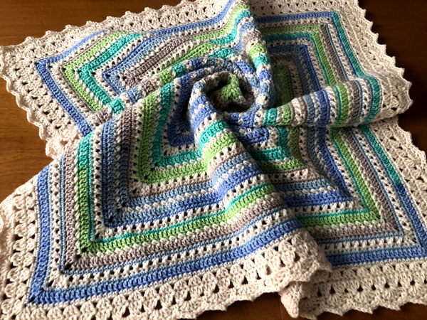 Goodnight Kisses Baby Blanket by Jeanne Steinhilber