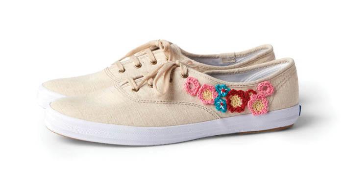 Crochet Flower Shoes