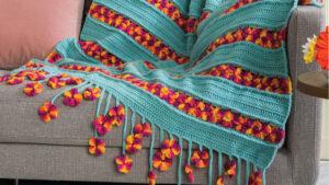 Crochet Garden Flowers Zinnia Blanket