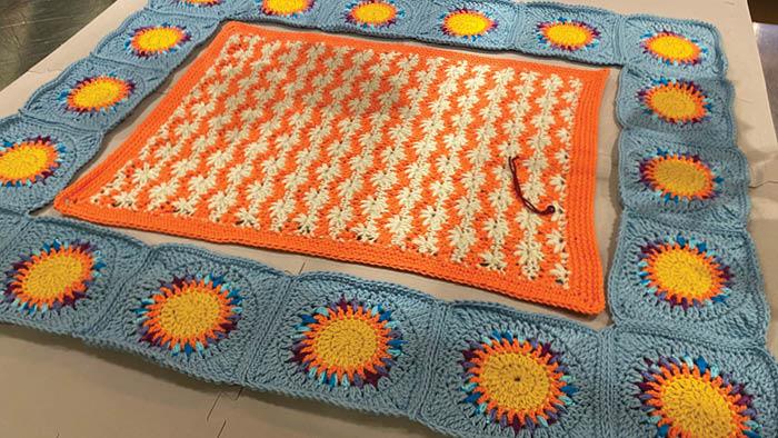 Crochet Puffy Flower Fun Day Attaching