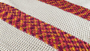 Crochet Study of Fire and Ice Blanket