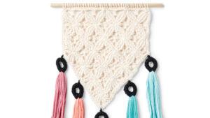 Mini Mock-Rame Crochet Wall Hanging