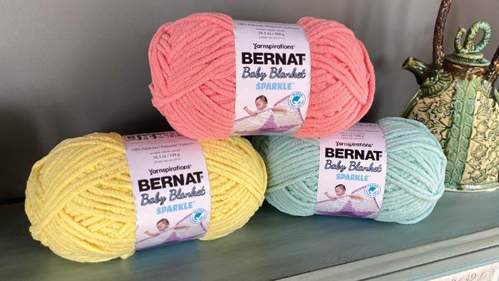 Bernat Baby Blanket Sparkle Yarn