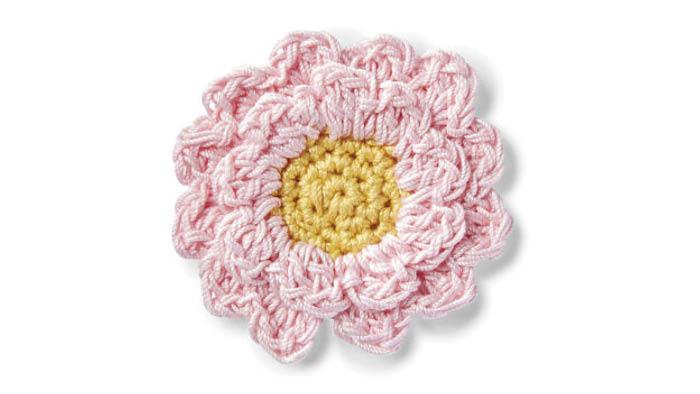 Crochet Cherry Blossom Applique