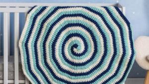 Crochet Galaxy Swirl Baby Blanket