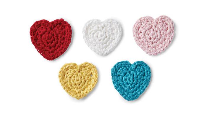 Crochet Hearts Applique