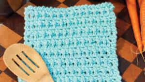 Crochet Lattice Dishcloth