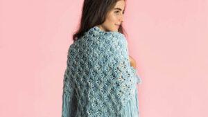Crochet Mock-Rame Fringe Shawl
