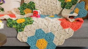 Crochet Modern Flower Patch Blanket