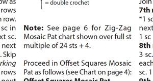 Stitch Multiple Over Pattern