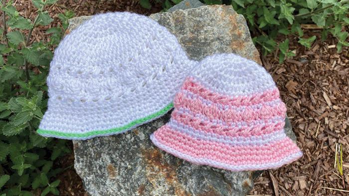 Crochet Hugs and Kisses Baby Sun Hats