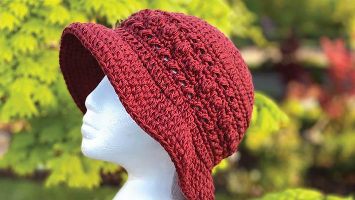 Crochet Hugs and Kisses Bucket Sun Hat