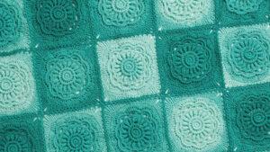 Crochet Green Floral Beauty Blanket