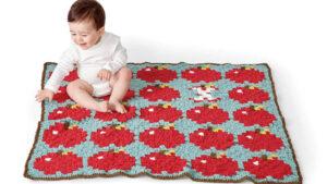 Crochet Apple Blanket