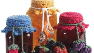 Crochet Canning Jar Tops with Fruit