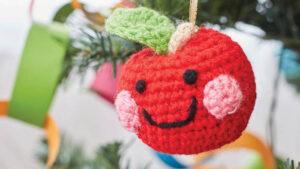 Crochet Cheeky Apple Ornaments
