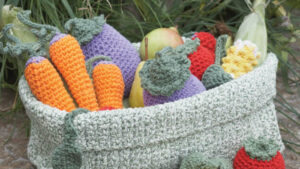 Crochet Farmer's Market Basket