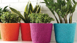 Crochet Flower Pot Cozies 2