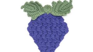 Crochet Grapes Dishcloth