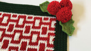Crochet Holly Jolly Mosaic Blanket
