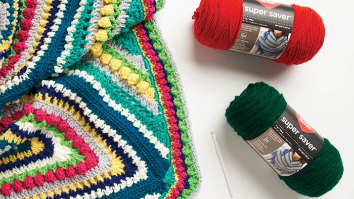 Estudo de geometria afegã de crochê