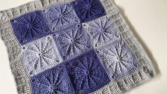 Crochet Sunny Spread Throw, Ombre Yarn