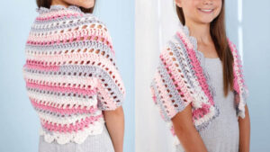Easy Girls Crochet Shrug
