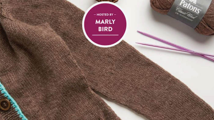 Knit Steeked Cardigan with Marly Bird