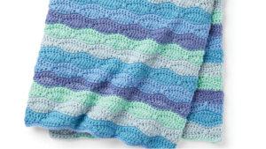 Crochet Blue Waves Blanket Anniversary Cakes