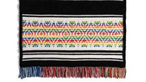 Crochet Nordic Rainbow Stripes Blanket