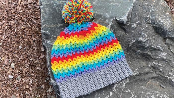 Lets Stripe Crochet Hat