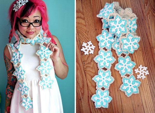 Snowflake Sugar Cookie Scarf