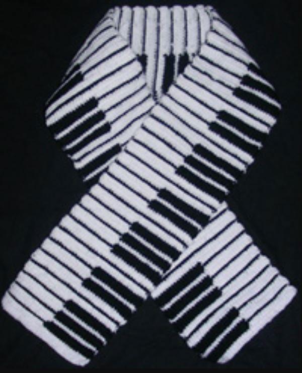 Piano Key Scarf