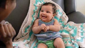 Crochet Baby Blanket With Love